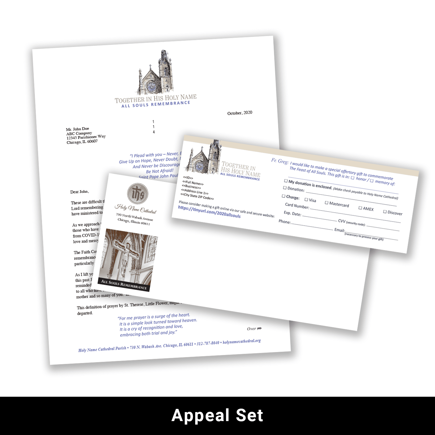 Print appeal set example