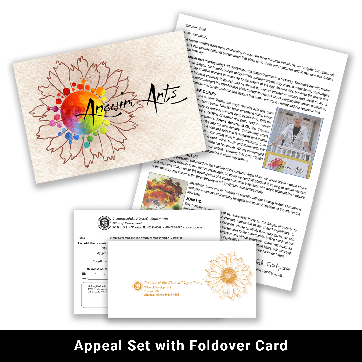 Print appeal set with foldover card example