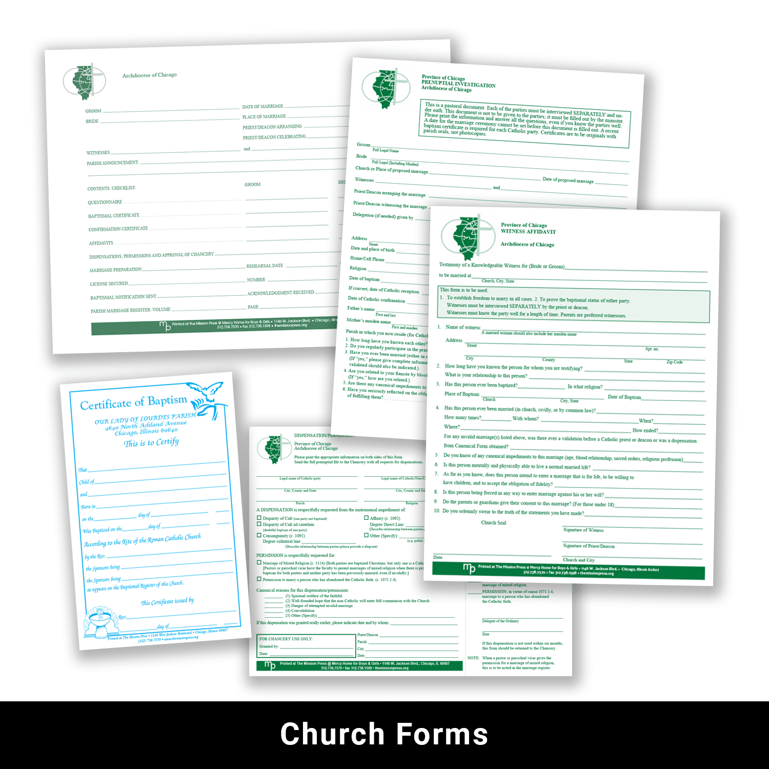 Church forms example