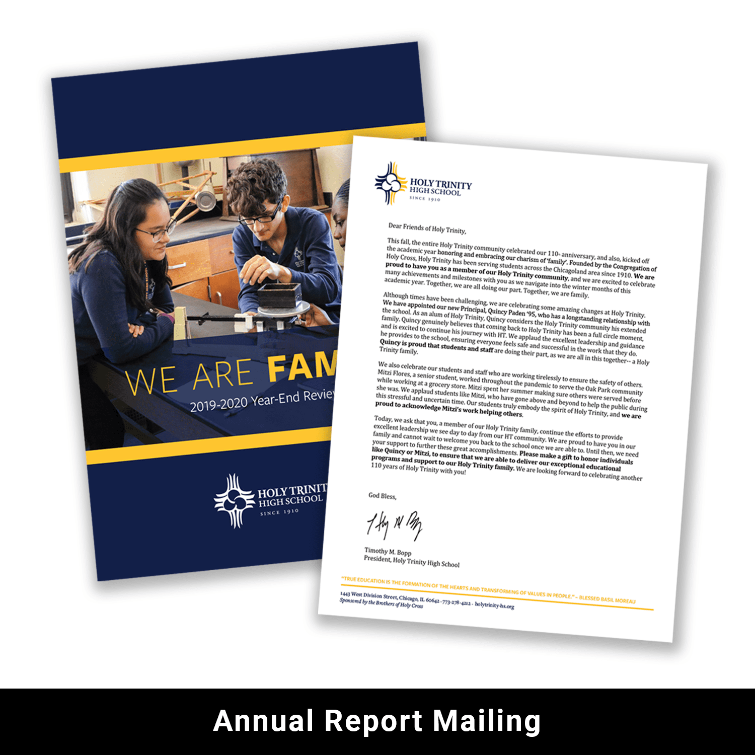 Annual report mailing example